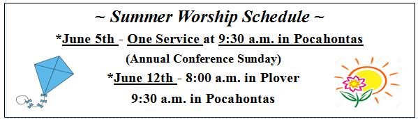HUMC summer schedule